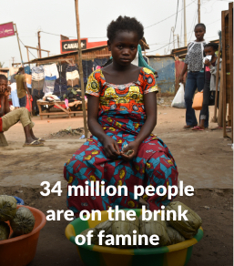 34 million people are on the brink of famine