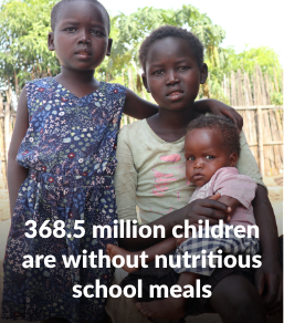 368.5 million children are without nutritious school meals