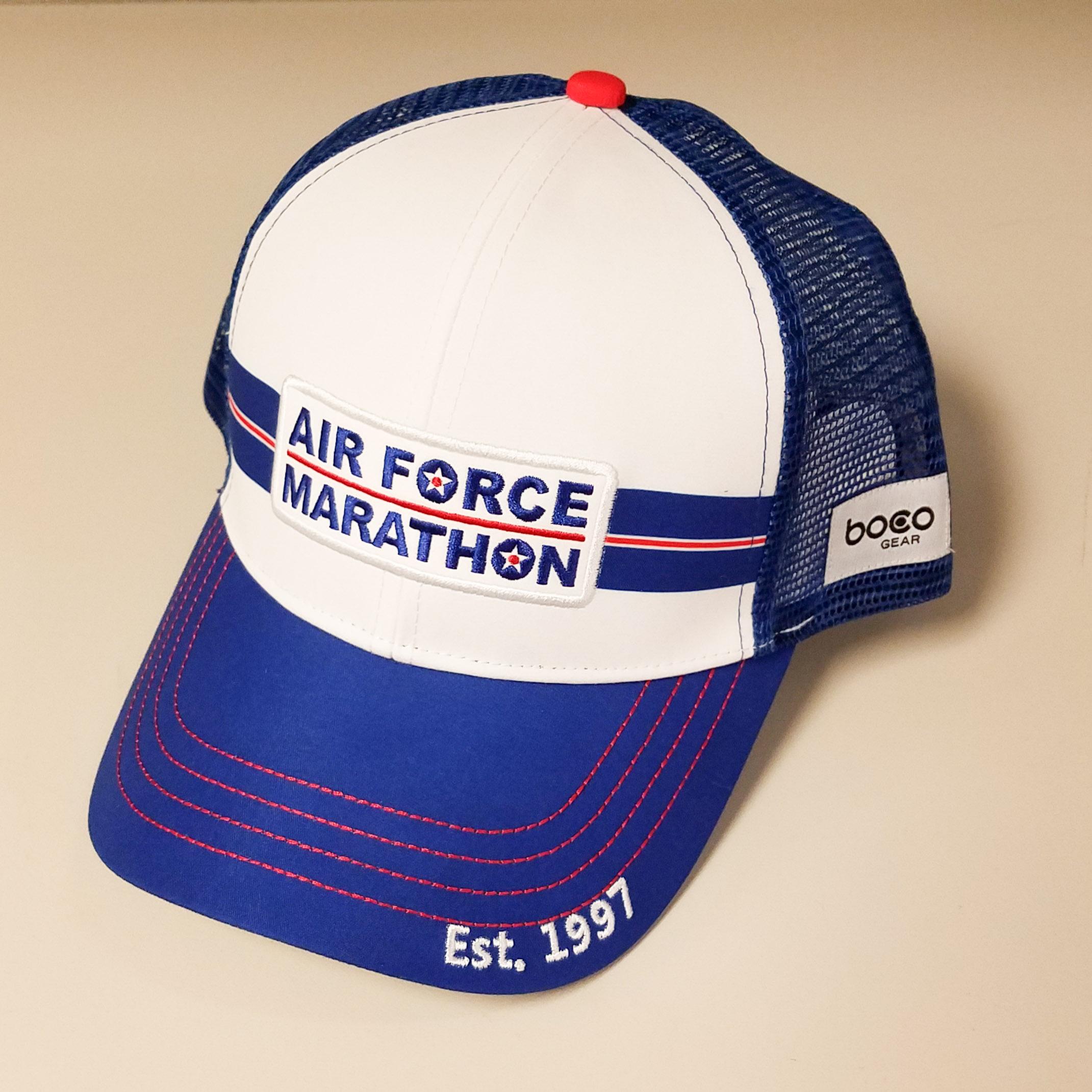 d28f2b78 Air Force Marathon Trucker Hat — Store — Air Force Marathon - Military/Active  Duty/Reserve Registrations — Race Roster