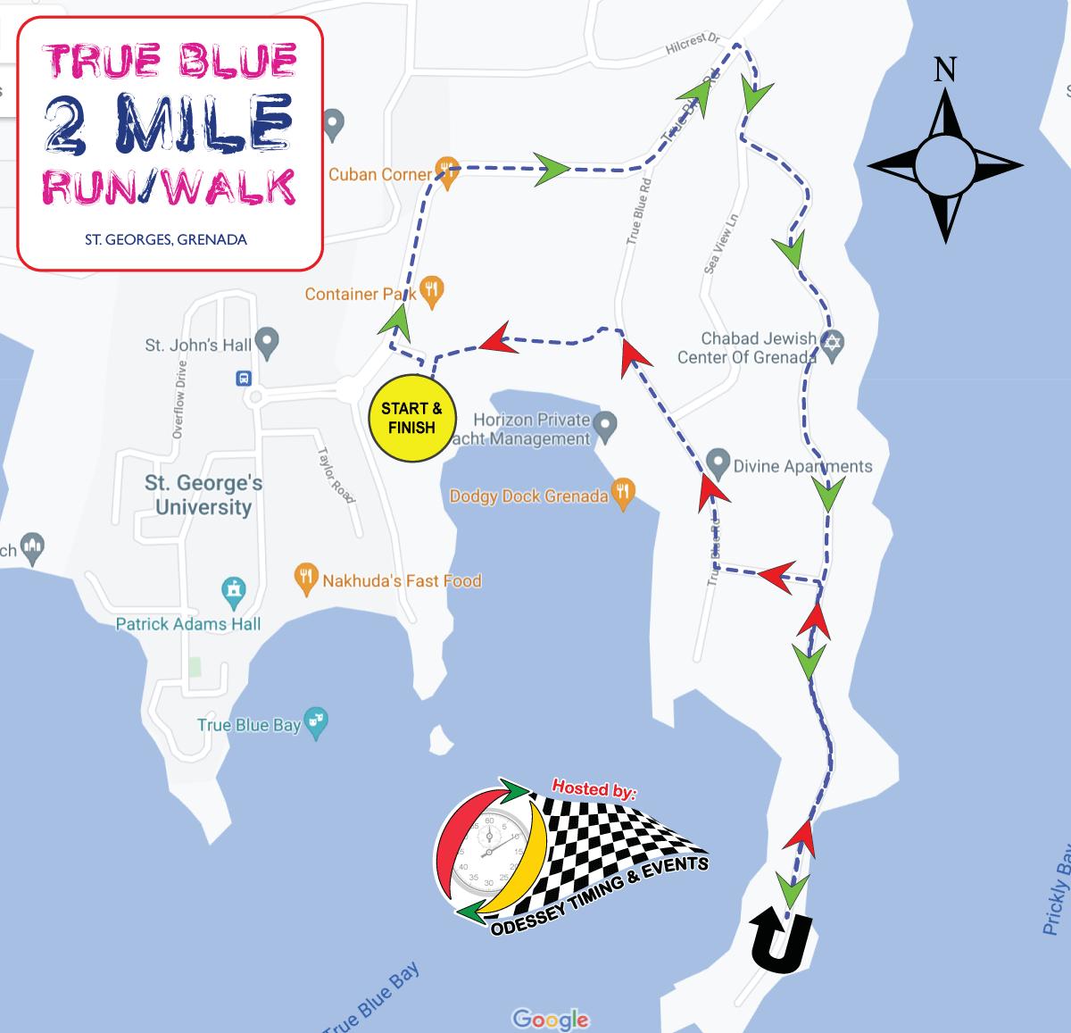 True Blue 2 Mile Race Course