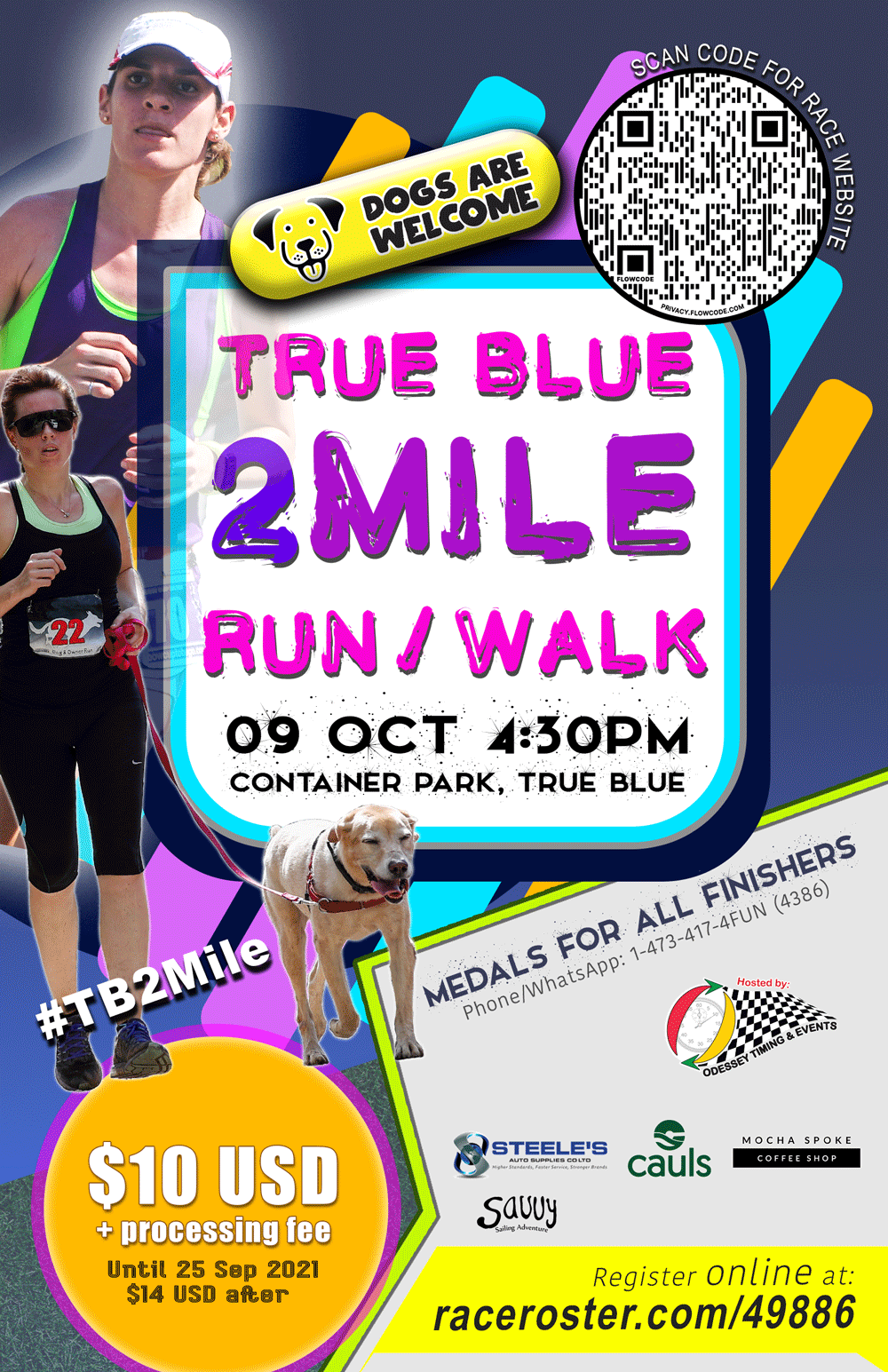 True Blue 2 Mile Run Grenada