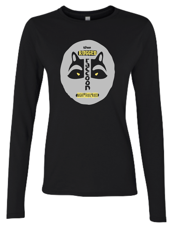 Official Women/'s The Raccoons Run With Us Badge White T-Shirt