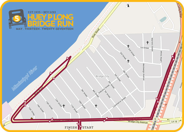 2017 HUEY P LONG BRIDGE RUN