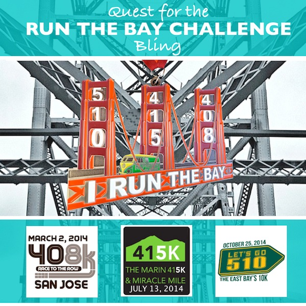 Image showing bling for run the bay challenge