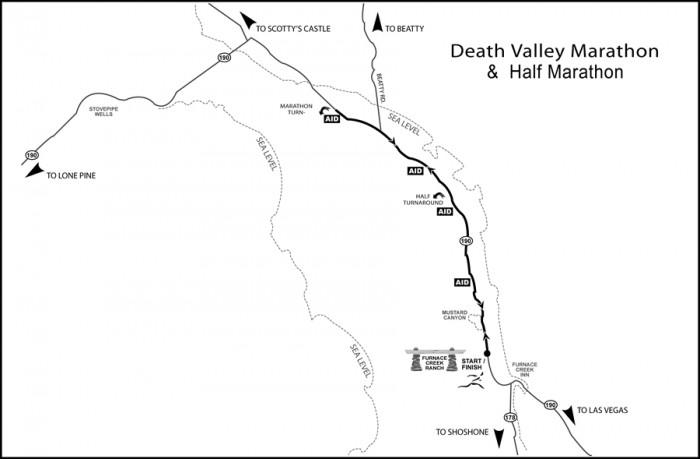 Death Valley Elevation Map.2018 2018 Death Valley Marathon Half Marathon 10k Race Roster