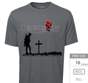 2017 REMEMBERrun t-shirt