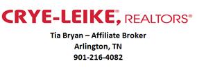 Tia Bryan Affiliate Broker Crye Leike Realtors