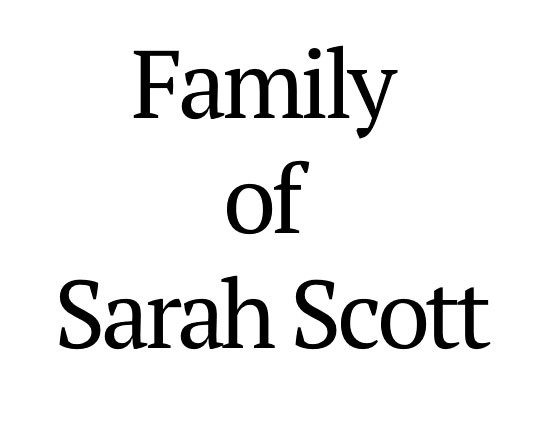 Dracula Sponsor - Family of Sarah Scott