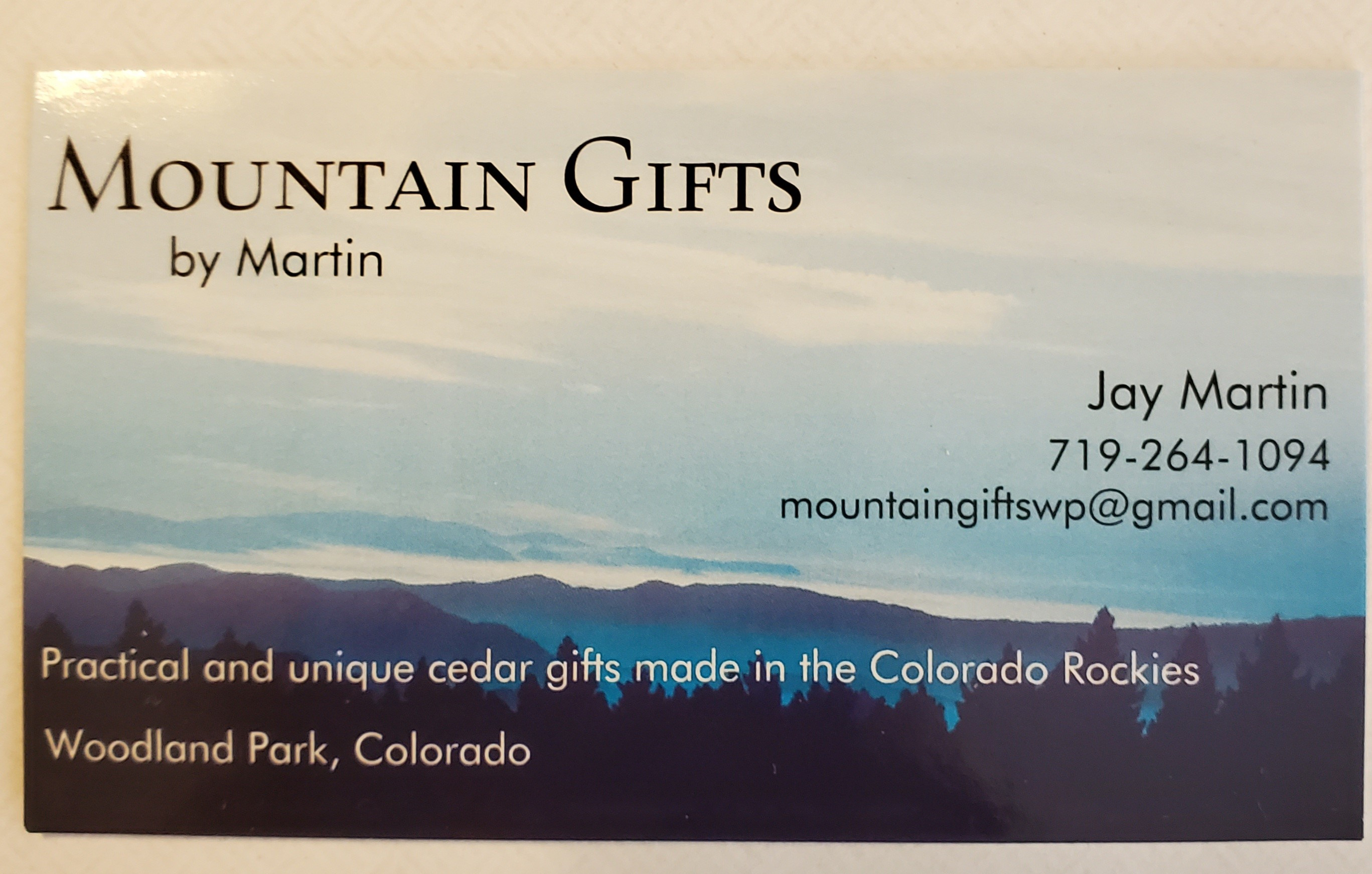 Mountain Gifts by Martin