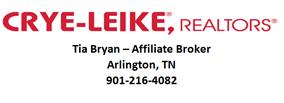 Tia Bryan Affiliate Broker Crye Leike Realty