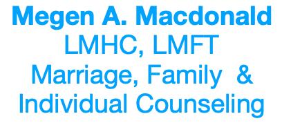 Megen Macdonald, LMHC, LMFT