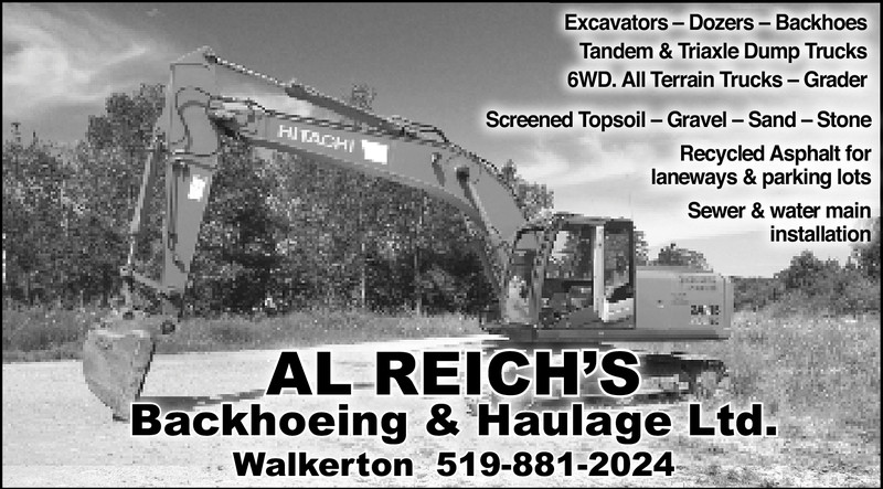 Al Reich's Backhoeing & Haulage Ltd.